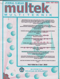 Image of JURNAL ILMIAH multek MULTI TEKNIK